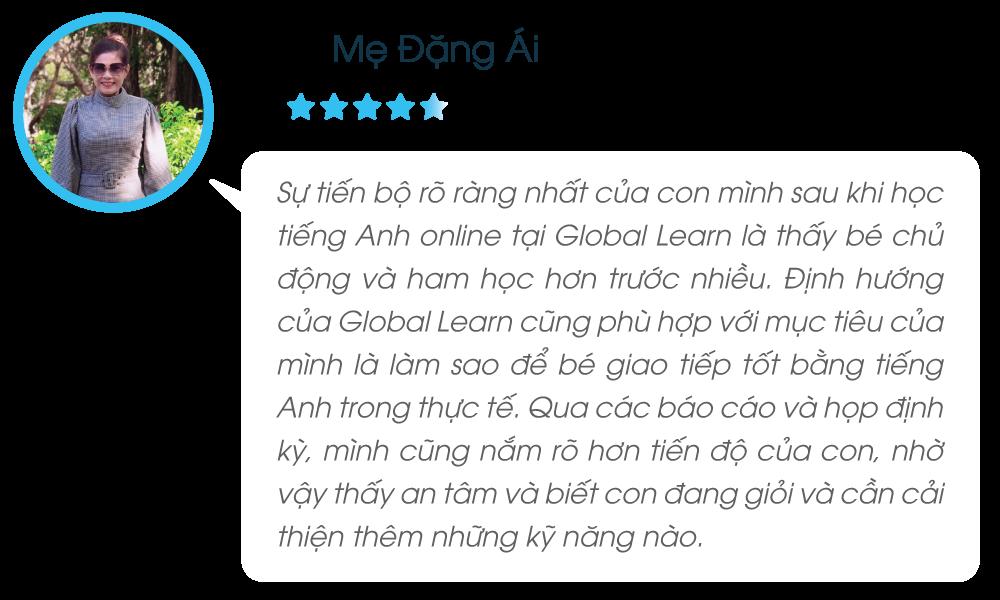 Phản hồi lớp tiếng Anh online cho trẻ em